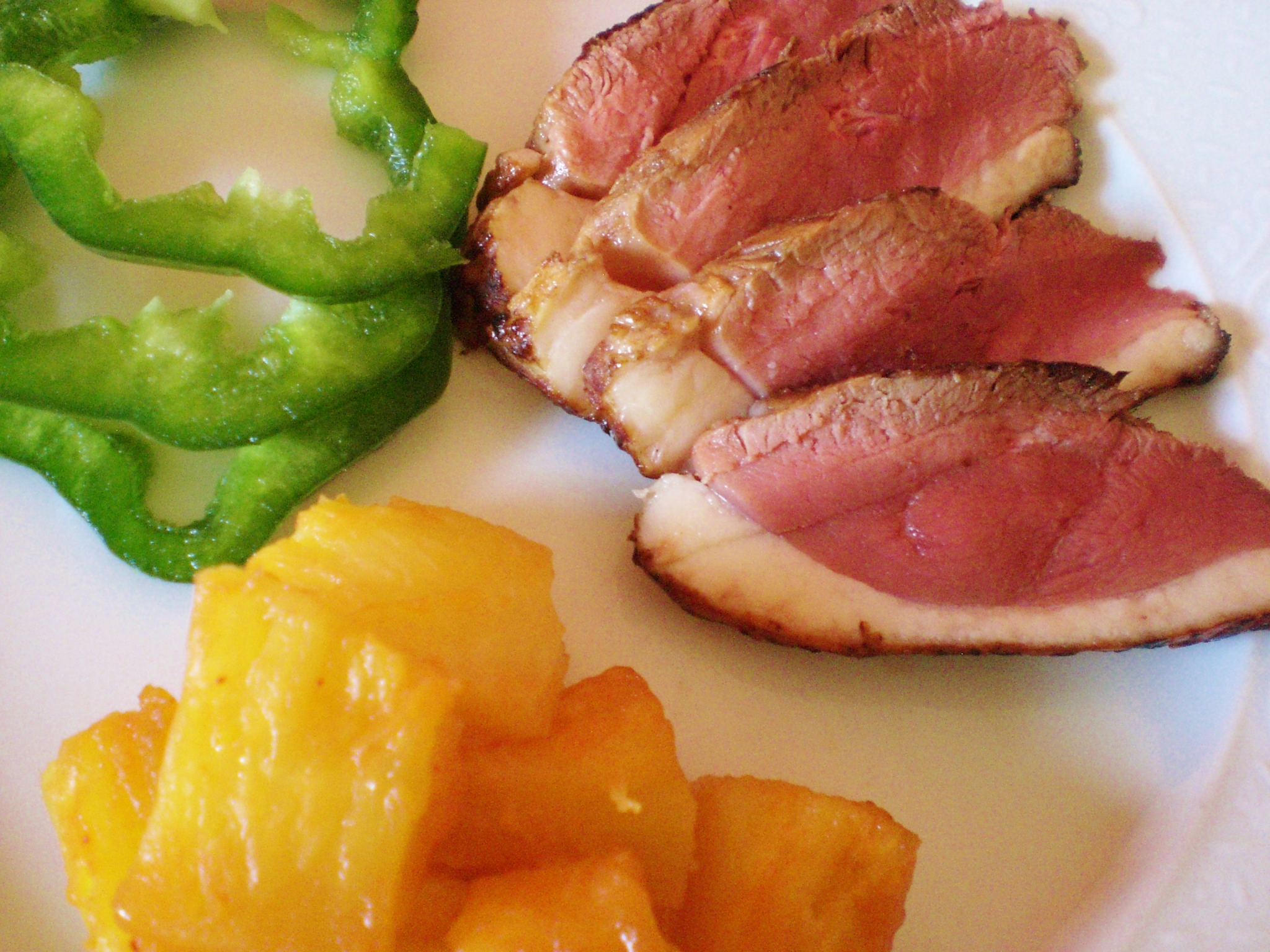 Boneless duck breast pieces