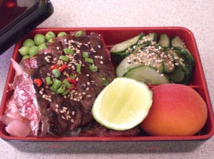 Seared beef bento