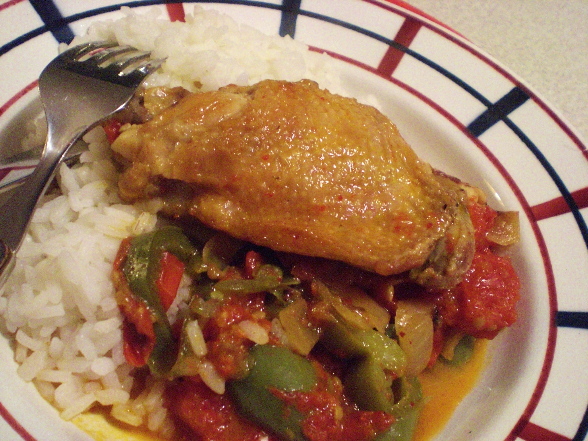 """chicken """"basquaise"""", the French recipe. One French Word: basquaise ..."""