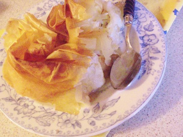 Pastis gascon served