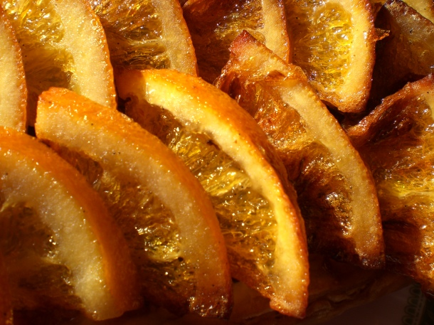 Home candied orange slices