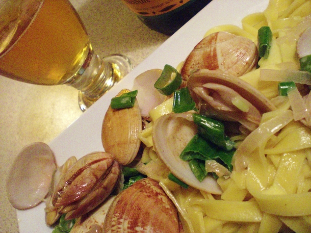 Clams and pasta,  066